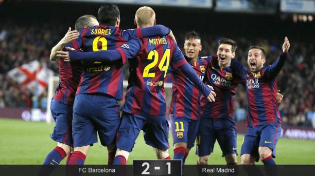 FANATICO sports-barcelona le gana al real madrid de la liga